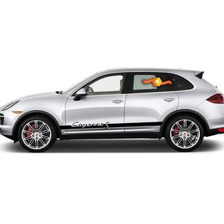 Porsche Cayenne S Seitenstreifen Aufkleber 2020