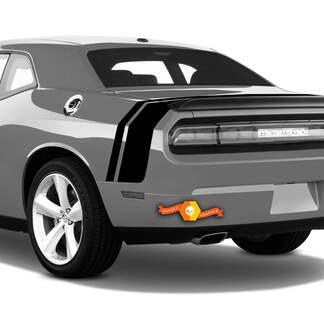 Dodge Challenger Trunk Decal Hintere Doppelstreifen für RT SRT SXT Side Trunklid 2008 2009 2010 2011 2012 2013 2014 2015 2016 2017 2018