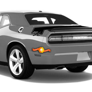 Dodge Challenger RT Trunk Stripes Rear Decal Sticker Vinyl Graphics