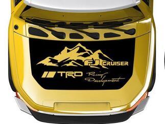 Hood Blackout Wrap Mountains Racing Development für Toyota FJ Cruiser Aufkleber beliebige Farben