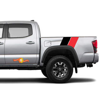 2016 2017 2018 2019 2020 Toyota Tacoma TRD Dual Off Road Side Bed Decal Graphics Sticker