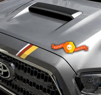 2015 2016 2017 2018 2019 Toyota Tacoma TRD Treibsand Kühlergrill Streifen Aufkleber Aufkleber Vinyl 3. Gen.