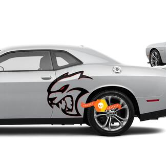 Two colors Hellcat Red Eye Side Decals Stickers For Dodge Challenger Redeye or Charger