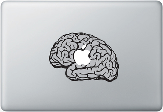 Mac Brain Apple Macbook Decal Sticker