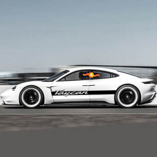 Porsche Taycan Side Stripes Kit Decal Sticker