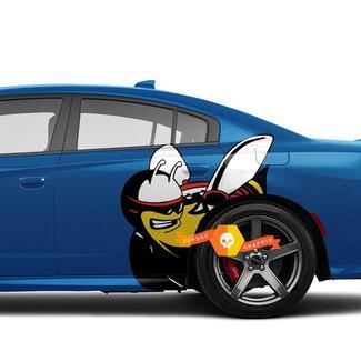 Vollfarbige Scat Pack Scatpack Dodge Charger oder Challenger Side Decals Aufkleber