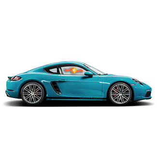 Porsche Cayman Black Edition Side Stripes Kit Decal Sticker