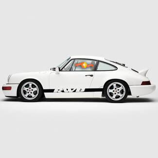 Porsche 911 Rauh Welt RWB Side Stripes Kit Decal Sticker