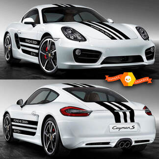 Porsche Cayman S Design Edition Side Stripes Kit Decal Sticker