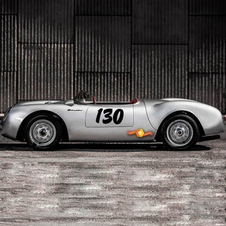 Porsche 130 Little Bastard James Dean Seitenstreifen Kit Aufkleber Aufkleber PORSCHE 550
