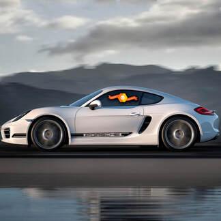 Porsche Cayman Boxster 987 Seitenstreifen Kit Aufkleber Aufkleber
