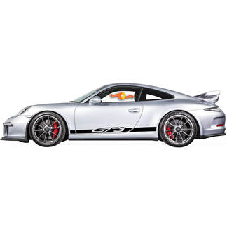 Kit of Porsche 911 GT3 Side Stripes Decal Sticker