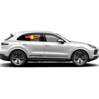 Porsche Cayenne Gemballa biturbo Side Stripes Kit Decal Sticker