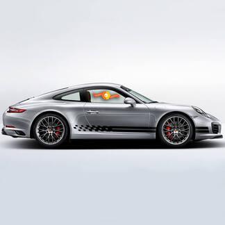 Porsche Kit Stickers Porsche 911 991 Carrera S Endurance Racing Edition Side Stripes Kit Decal Sticker