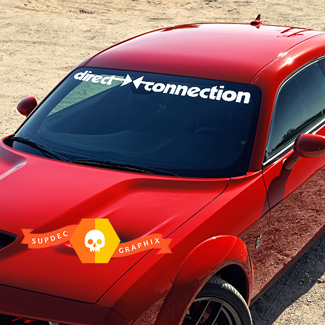 DODGE Direct Connection Banner for Challenger Windshield decals stickers
