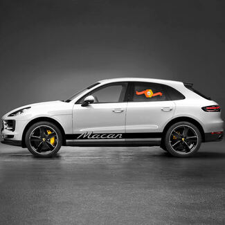 Porsche Macan Rocker Panel Racing Side Stripes Decal Sticker