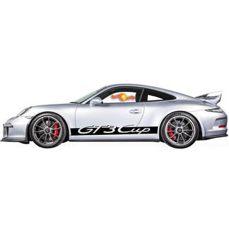 Porsche 911 GT3 Cup Rocker Panel  Racing Side Stripes Decal Sticker