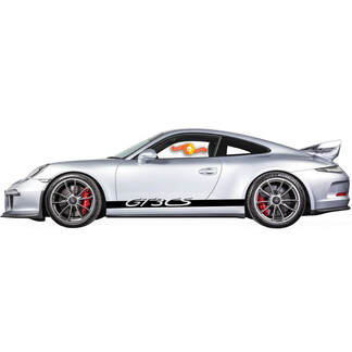 Porsche 911 GT3 CS Rocker Panel  Racing Side Stripes Decal Sticker