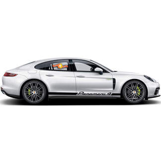 Porsche Panamera 4 E Hybrid Rocker Panel  Racing Side Stripes Decal Sticker