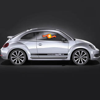 Volkswagen Beetle rocker Stripe Porsche Look Graphics Decals Cabrio style fit any year