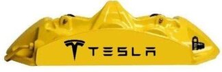 10pc Custom TESLA Brake Caliper Vinyl Sticker Decal Logo Graphic