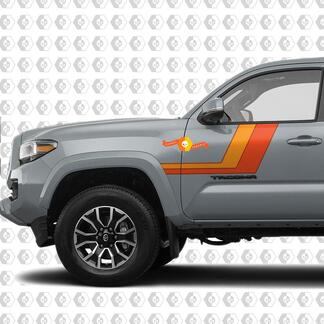 Toyota Tacoma TRD Sport PRO Side retro vintage Stripes Decal Graphics 2016 - 2020