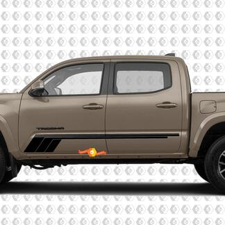 Toyota Tacoma TRD Sport PRO Side Retro Rocker Panel Stripes Decal Graphics 2016 - 2020