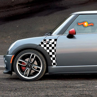 2002 2006 Mini Cooper Checkmate A Panel Checkered Decal Vinyl Graphics Stickers