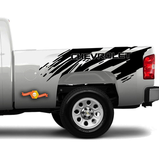 2007-2018 Chevy Silverado Splatter Side Bed Stripe Vinyl Graphics Decals