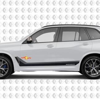 M Performance Vinyl Stripes for BMW X5 X6 M50 G05 G06 Monochrome style