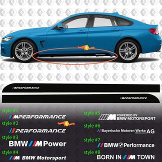 BMW M Power M Performance Born In M Town M Motorsport Side Rocker Panel vinyl decals stickers F32 F36 F30 F82