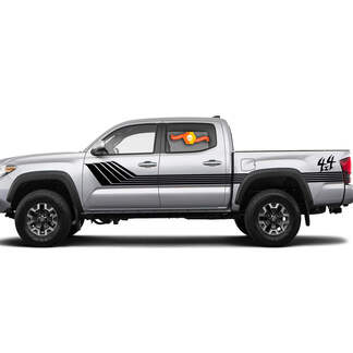 Toyota Tacoma 4x4 Side Retro Rocker Panel Stripes Decal Graphics 2016 - 2020
