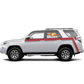 Kit for Toyota 4runner TRD retro vintage Long stripe kit Pro Sport 4x4 Off Road Stickers Decal