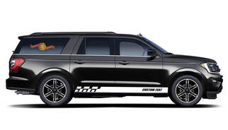 2x side Ford Expedition Vinyl Stripes body decal vinyl graphics sticker Custom Text style 4