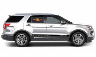 2x side Ford Explorer Vinyl Stripes body decal vinyl graphics sticker Custom Text style 2