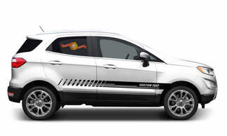 2x side Ford EcoSport Vinyl Stripes body decal vinyl graphics sticker Custom Text style 1