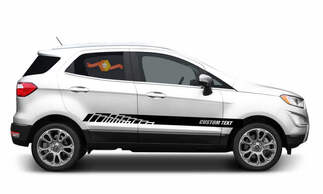 2x side Ford EcoSport Vinyl Stripes body decal vinyl graphics sticker Custom Text style 3