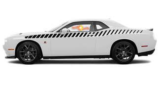 2008 & Up Dodge Challenger Ganzkörper-Bodyline Strobe Racing Stripe Kit 2