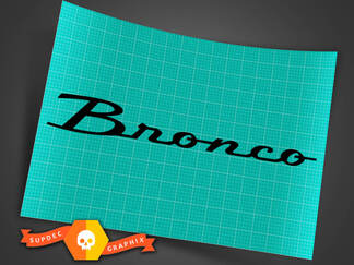 Ford Bronco Windscherm Decal Letters Sticker