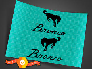Ford Bronco - Bronco With Horse - Decal Set - 6.25