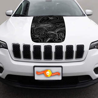 2014-2018 JEEP CHEROKEE LATITUDE VINYL HOOD DECAL STICKER GRAPHIC STRIPE