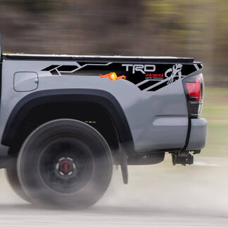 Pair of TRD 4x4 off road pro sport Mandalorian Edition bed side Vinyl Decals graphics sticker kit for Toyota Tacoma all years