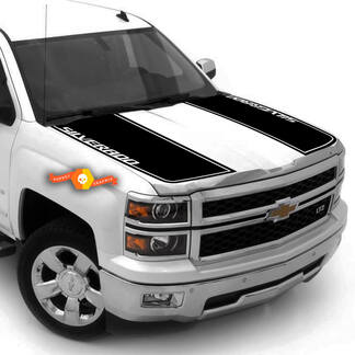 Z71 2007 - 2013 Chevy Silverado Hood Stripe Decals Rally 2 Styles 2500
