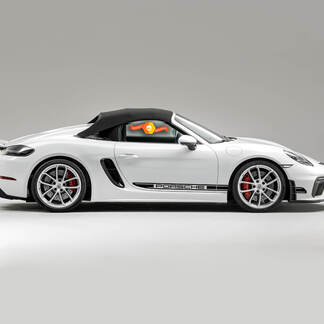Porsche 718 Spyder Side Stripes Kit Decal Sticker