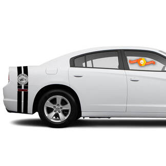 Detroit Brawler Bee Dodge Ladegerät Trunk Band Aufkleber Aufkleber Komplette Grafik Kit passt zu den Modellen 2011-2014