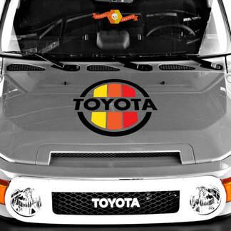 Vintage Haube dreifarbig Sticke Aufkleber passt auf Toyota 4runner Tacoma Fj Cruiser