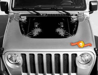 Tropische palmen Vinyl Decal Graphics Sticker voor Hood Wrangler JL 2018 2019 # 2