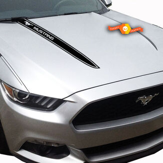 Ford Mustang Hood Side Stripes Grafik Aufkleber