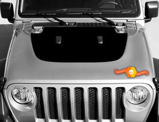 Vinyl decal graphics sticker for hood Wrangler JL 2018 2019 for hood Wrangler graphics sticker