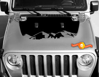 Vinyl Decal Graphics Sticker voor Hood Wrangler JL 2018 2019 voor Hood Wrangler Graphics Sticker Rocky Mountain